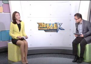 韓国女子アナの見えそうで見えないミニスカと美脚の動画まとめ